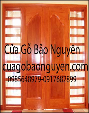cửa gỗ lim lào 2 cánh vòm chữ ô M14