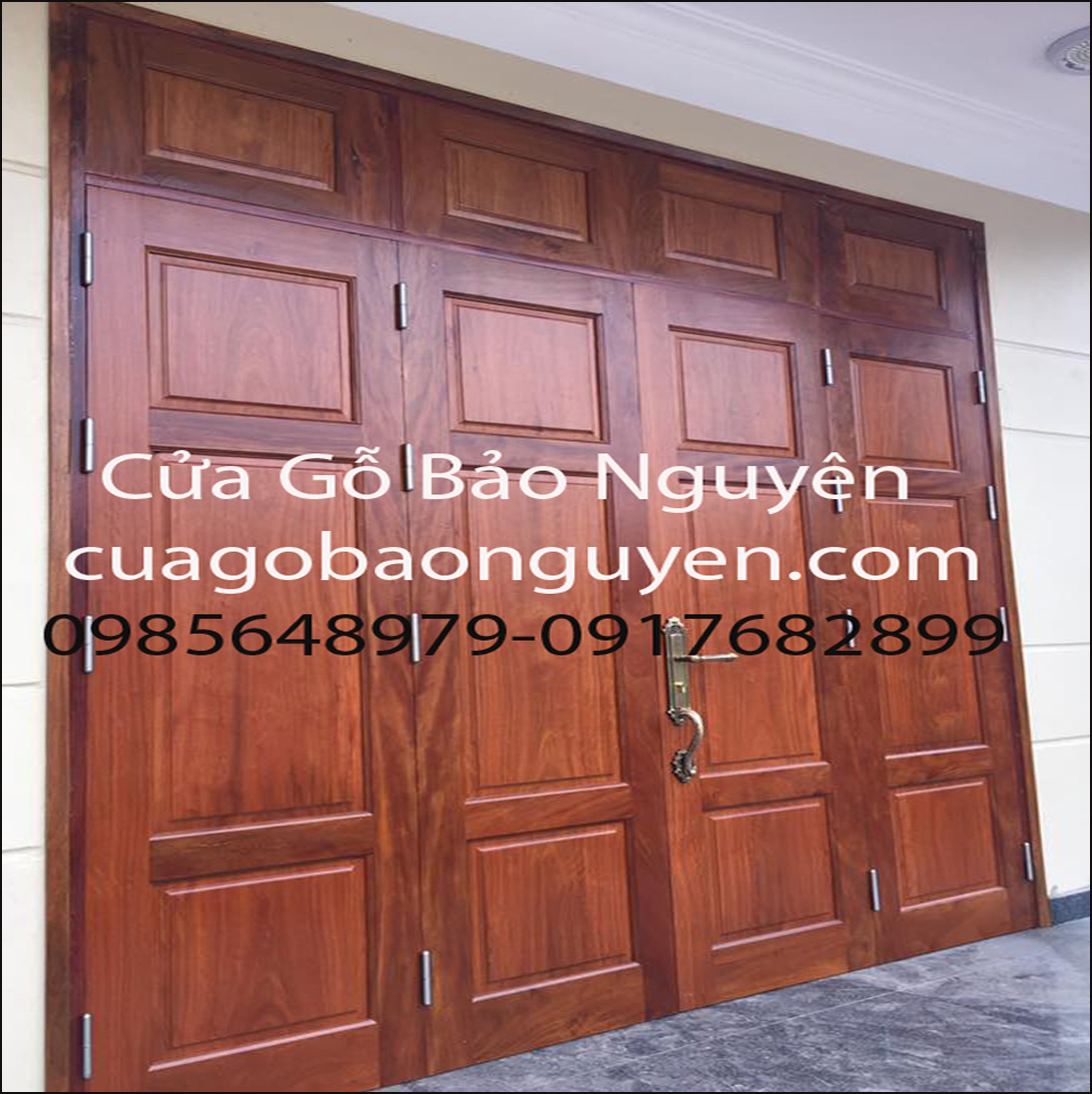 cửa gỗ lim lào 4 cánh