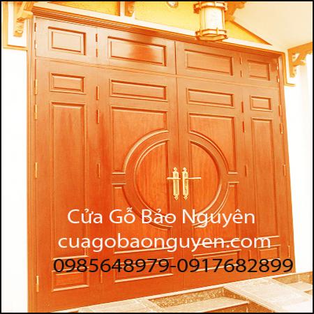 mẫu cửa đi mặt tiền gỗ lim đẹp và giá rẻ M22