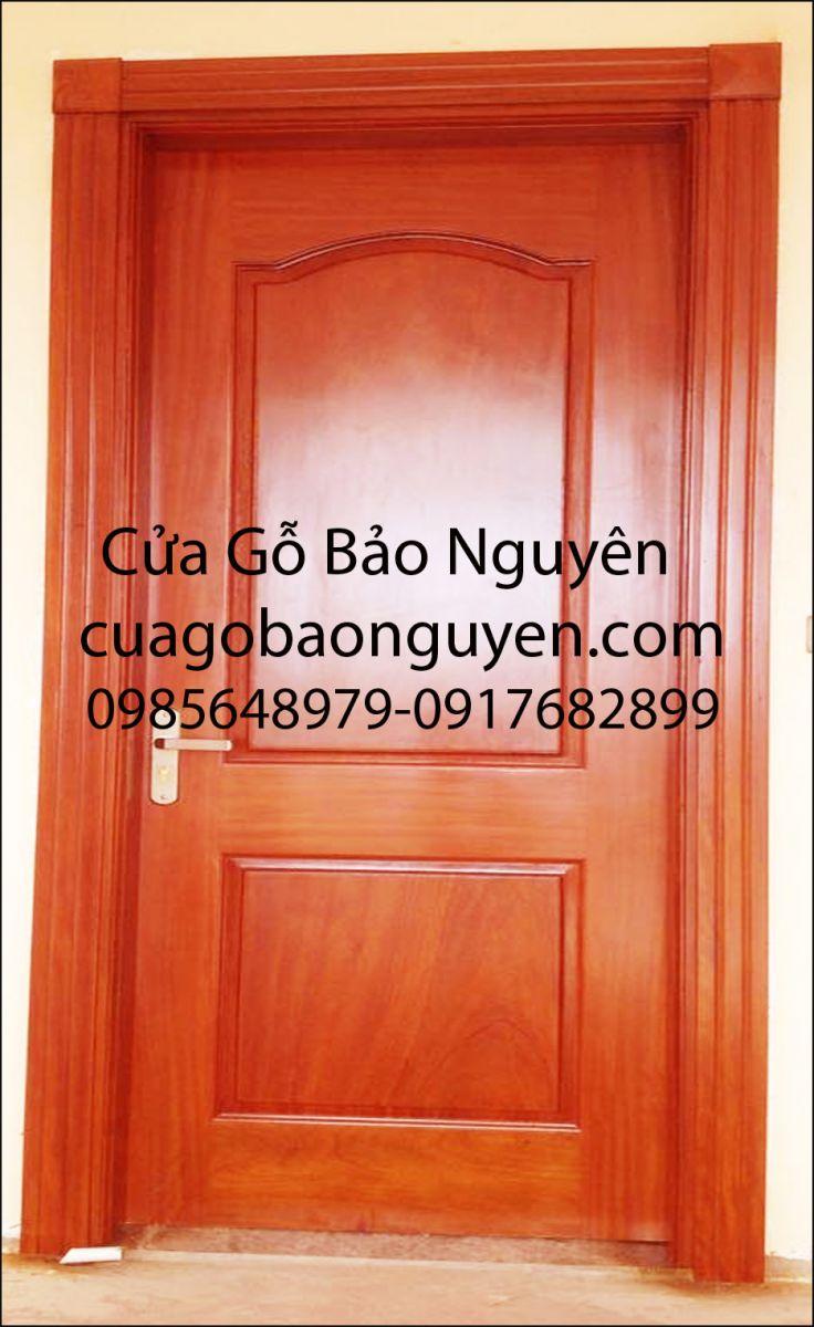 cửa thông phòng gỗ lim nam phi vòm lược trơn M2