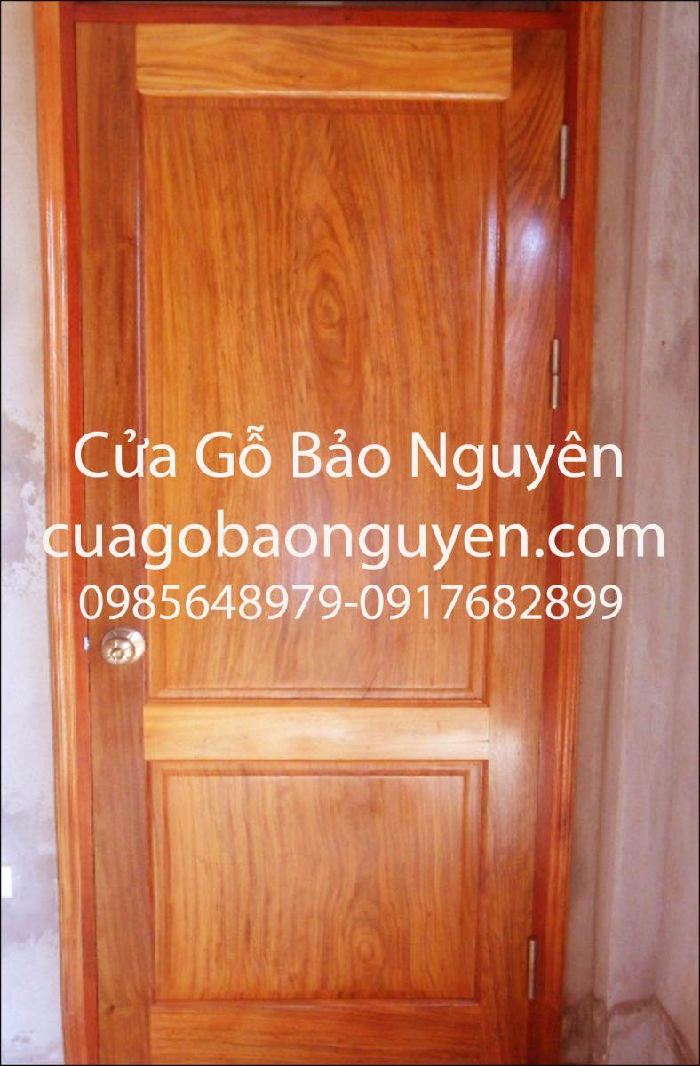 cửa thông phòng 2 lá vuông gỗ lim nam phi M3