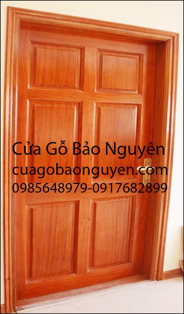 cửa thông phòng 6 lá gỗ lim nam phi đẹp M12