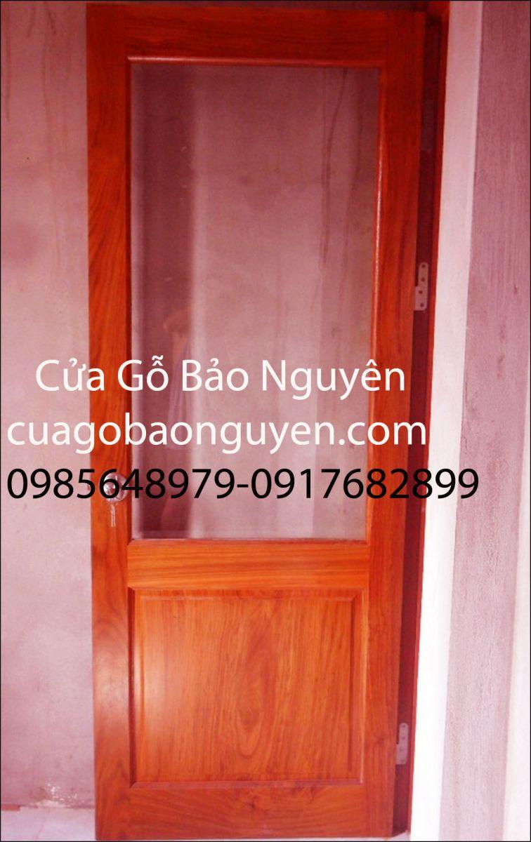 cửa thông phòng pano-kính đẹp gỗ lim M14