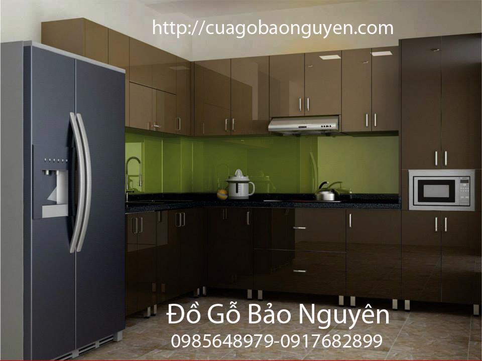 tủ bếp gỗ công nghiệp đẹp M01