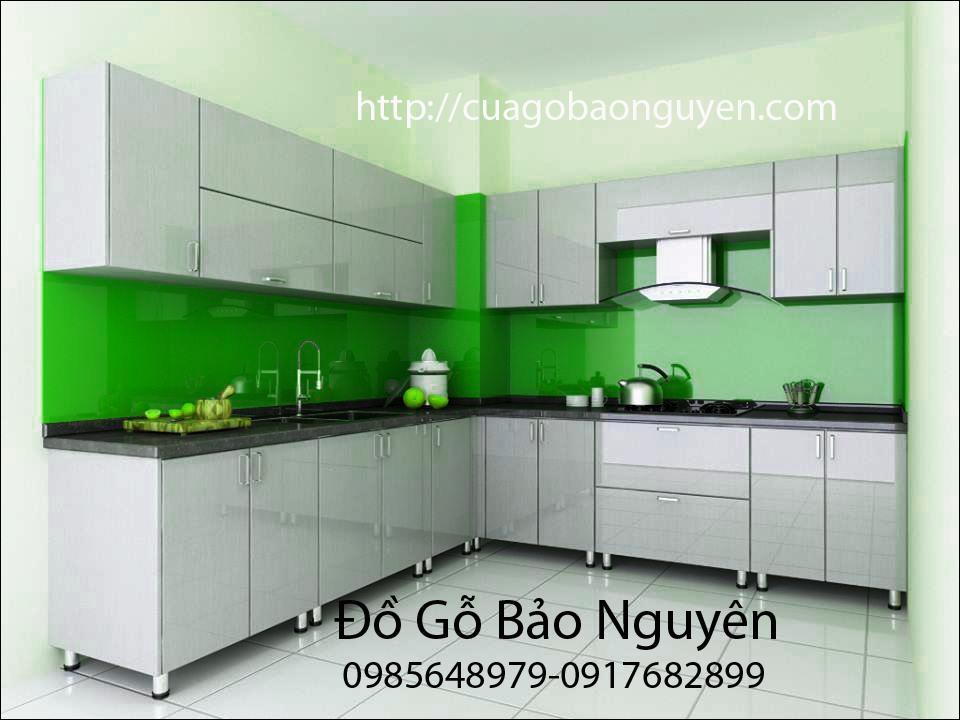 Mẫu tủ bếp acrynic cao cấp M04