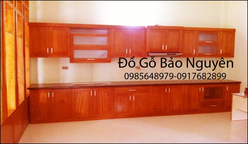 Tủ bếp gỗ sồi mỹ M8