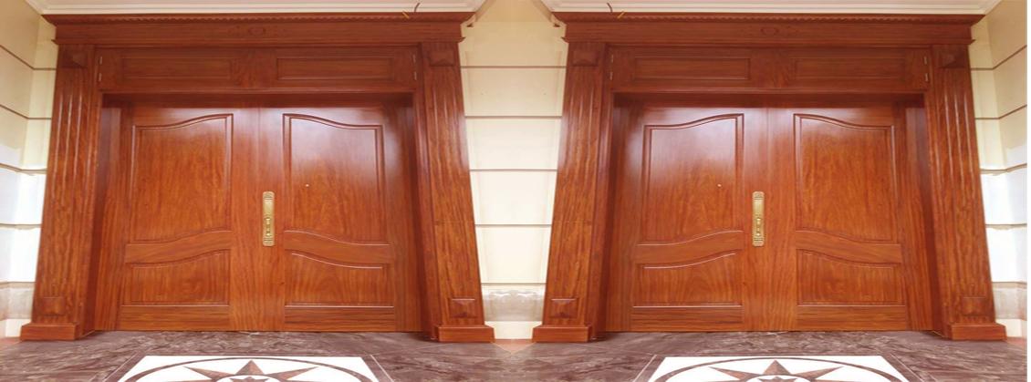 mẫu cửa 2 cánh gỗ lim lào đẹp